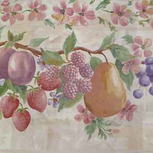 Pink Fruit Vintage Wallpaper Border Floral Kitchen 7502713 FREE Ship