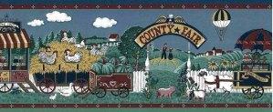 Americana Country Fair Wallpaper Border