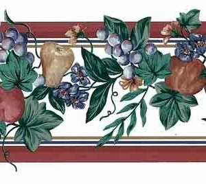 Vintage Fruit Wallpaper Border Kitchen Floral Ivy Red 109225 FREE Ship