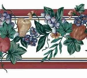 Vintage Fruit Wallpaper Border Kitchen Floral Ivy Red 109225 FREE Ship