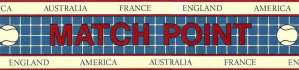 Tennis Wallpaper Border featuring Countries in blue, white and red