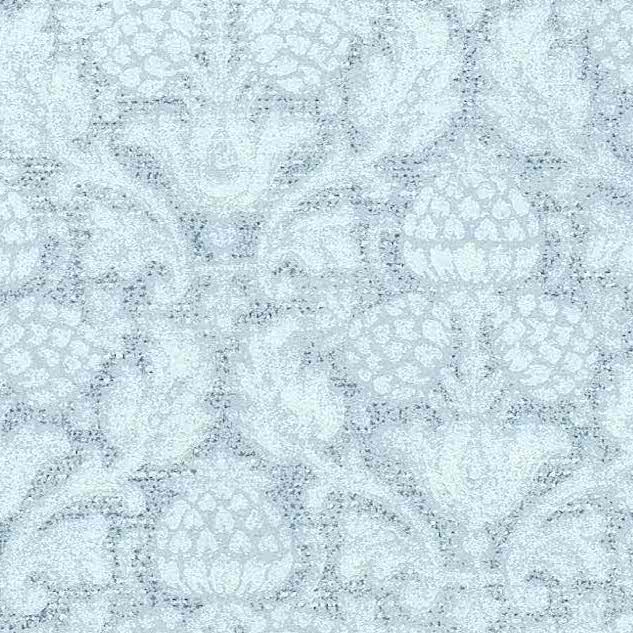 blue large-scale damask wallpaper, damask, pineapple, dining room, classic, traditional