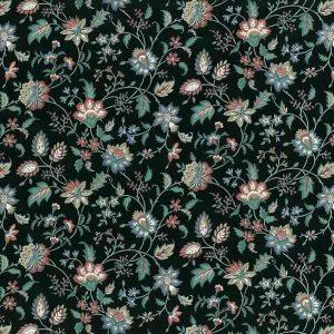 Paisley Vintage Wallpaper Black Green Blue Rose Floral GI2011 D/Rs