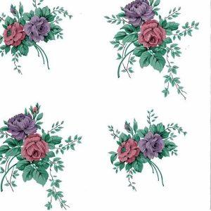 Lavender Pink Floral Vintage Wallpaper TK5072 Double Rolls