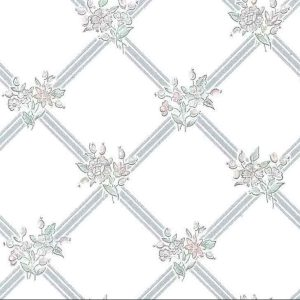 Lavendar Lattice Vintage Wallpaper SM2121 Double Rolls