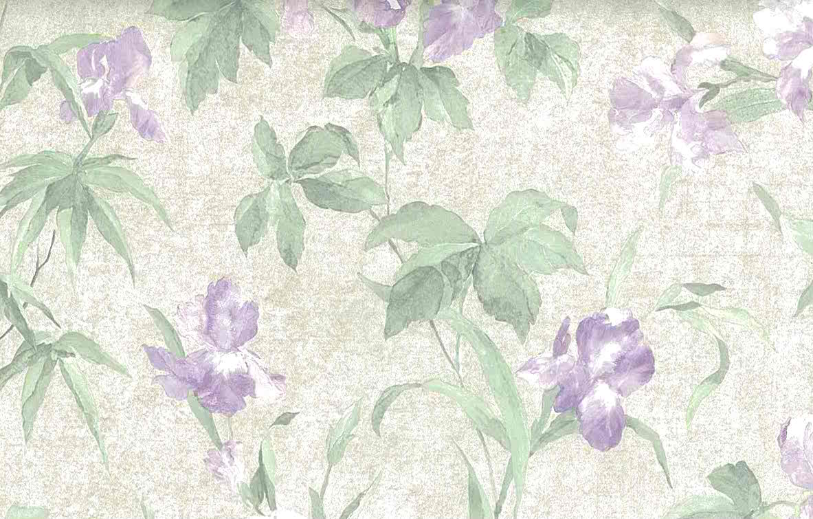 iris vintage wallpaper,textured,glazed,pearlized, purple,green