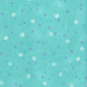 Turquoise Floral Vintage Wallpaper Purple Daisies Girls FI46071 D/Rs
