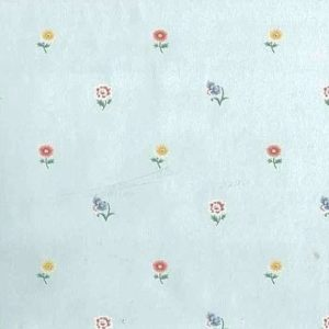 Vintage Wallpaper Floral Blue Yellow Small Flowers Cottage TH115 D/Rs