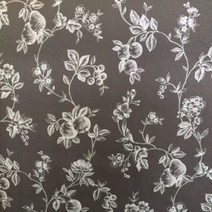 Black Silver Fruit Wallpaper Kitchen Fruit KV27415 Double Rolls