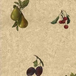 Cherries Vintage Wallpaper Kitchen Pears Grapes 230-33846B D/Rs