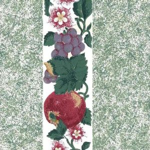 Green Fruit Vintage Wallpaper Plums Pears Kitchen GL07825 D/Rs