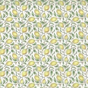 Yellow Lemons Vintage Wallpaper Kitchen Green TJ9181 D/Rs