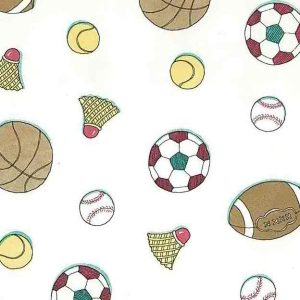 Kids Sports Vintage Wallpaper Soccer Baseball Football GW2081 D/Rs