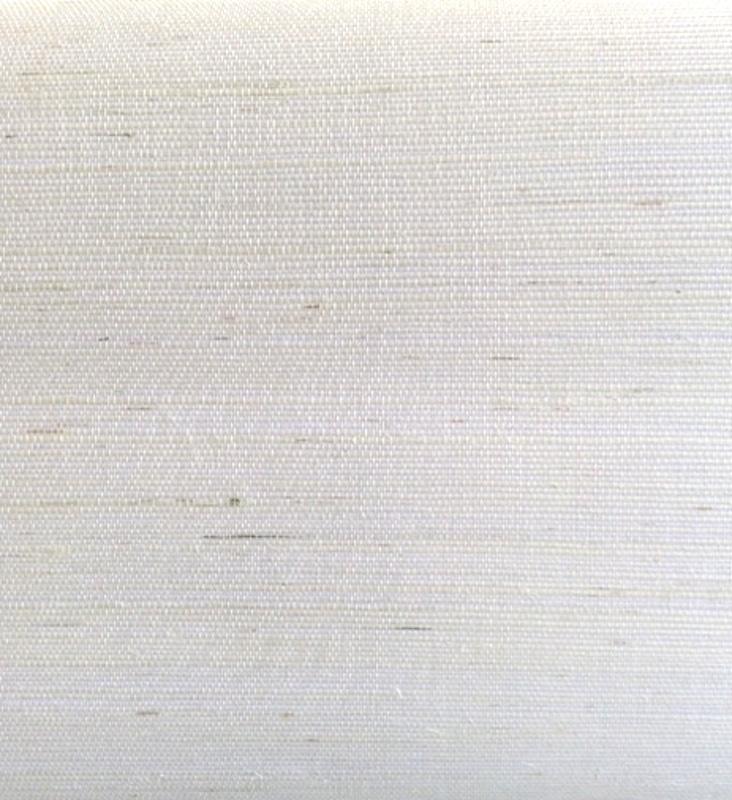 White linen-like grasscloth.