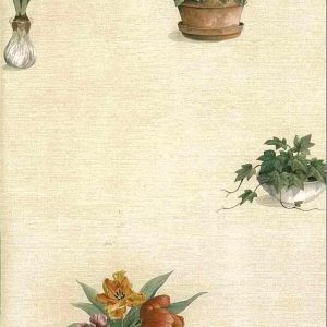 Spring Flowers Vintage Wallpaper Pansies Kitchen Floral 231-35308 D/Rs