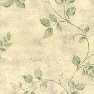 Green Leaves Vintage Wallpaper UK 72373 Double Rolls