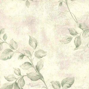 Green Vining Leaves Vintage Wallpaper Lavender 72372 D/Rs