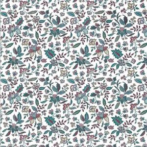Paisley Floral Vintage Wallpaper Teal Fuchsia Beige GI2063 D/Rs