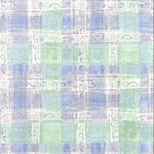 Green Plaid Vintage Wallpaper Blue Pink Off-White HM6607 D/Rs