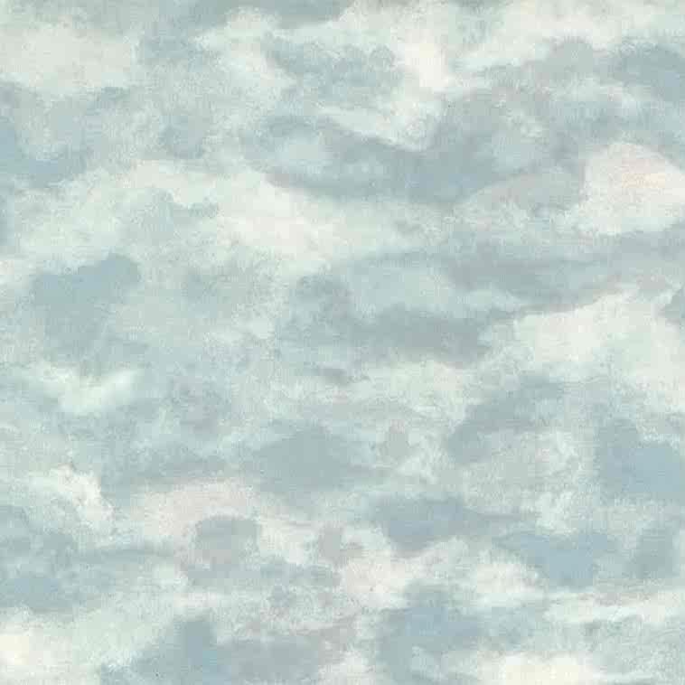 blue white sky wallpaper, clouds, pink, children's, kids,nursery