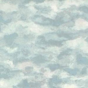 Blue White Sky Wallpaper Clouds Pink BT8617 Kids Double Rolls
