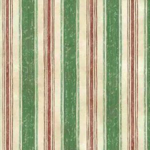 green striped vintage wallpaper, red, cream, watercolor