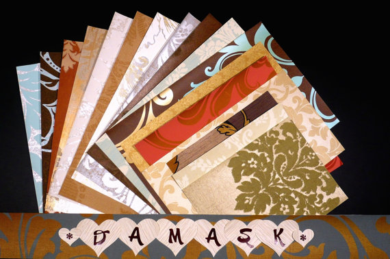 Damask Crafts & Scrapbooking Wallpaper Pak Example
