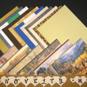 NOVELTY Masculine Craft Scrapbooking Paper Wallpaper Pak 17 Sheet