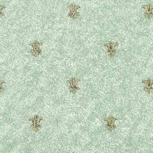 Fleur-de-lys-Wallpaper-Gold Metallic-Green-Texture BG344 D/Rs