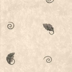 Vintage Wallpaper Leaf Kitchen Faux Finish Gray Beige 105141 D/Rs