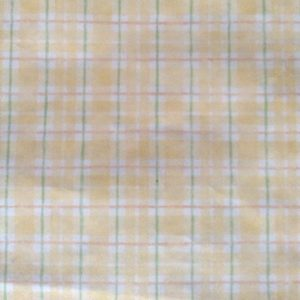 Vintage Wallpaper Plaid Yellow White Green Orange UK 49823 D/Rs