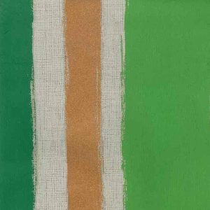Copper Striped Wallpaper Modern Green 769005 Double Rolls