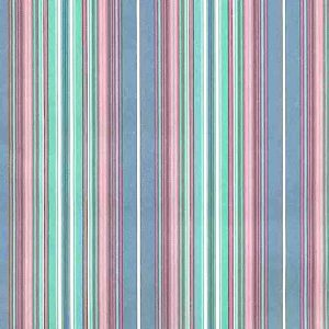 multi-color striped vintage wallpaper, stripes, pink, blue, green, traditional, bedroom