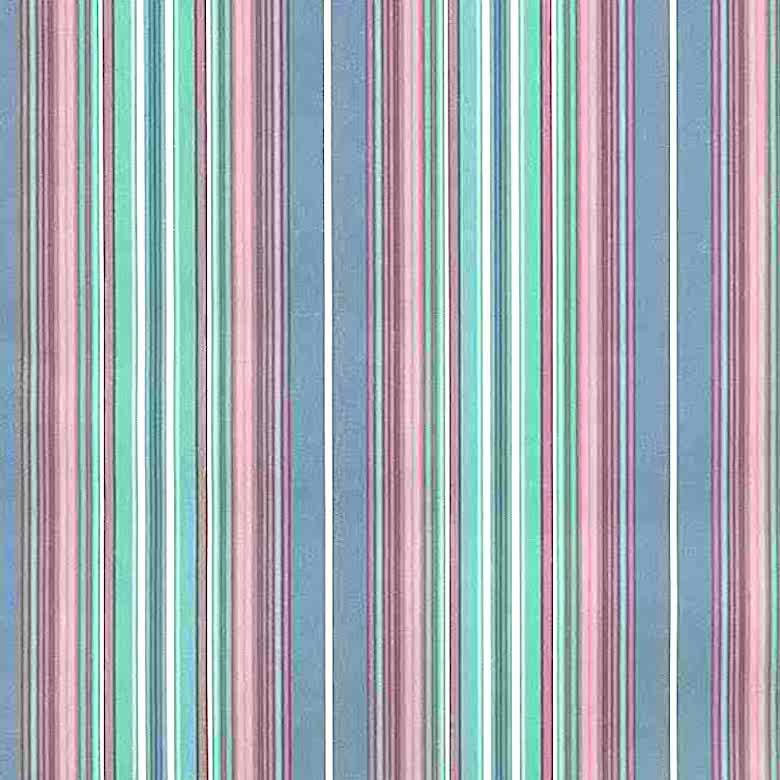multi-color striped vintage wallpaper, stripes, pink, blue, green, traditional, bedroom