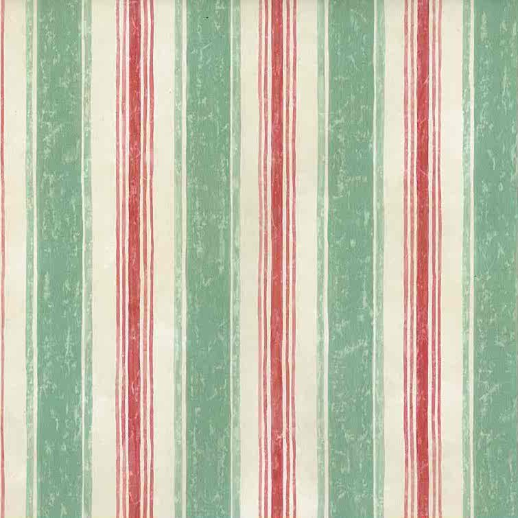 vintage wallpaper striped green red, cream, UK, classic, Entrance Way, Dining room, watercolor