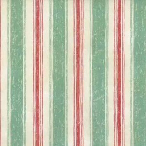 Vintage Wallpaper Striped Green Red UK 7055-063 Double Rolls