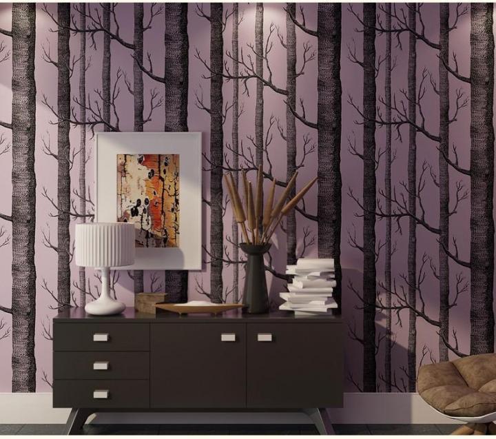 Tree Patterned Wallpaper