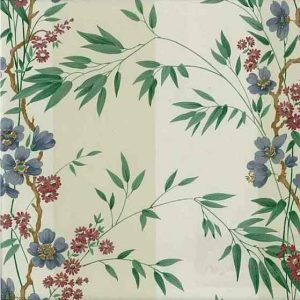 Tropical Palm Vintage Wallpaper Striped Floral Green Blue MG1142 D/Rs