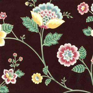 Floral Paisley Vintage Wallpaper Vines Maroon Pink Teal FR171 D/Rs