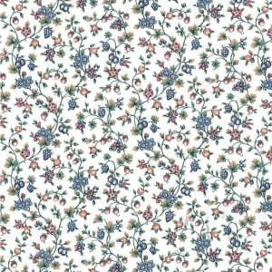 Berry Vines Vintage Wallpaper Floral Blue Green Red FV909 D/Rs