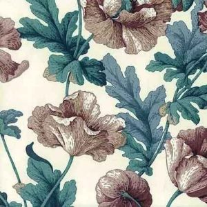 Poppies Vintage Wallpaper Floral Rose Purple Taupe HAN5054 D/Rs
