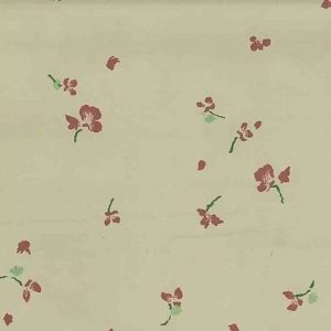 Schumacher Floral Vintage Wallpaper Taupe Red Roses 5671B 45 Feet
