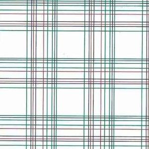 Vintage Green Red Plaid Wallpaper Blue White Narrow Lines BY1382 D/Rs