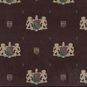 Vintage Coat of Arms Wallpaper Lions Maroon Gold 8540H304 D/Rs