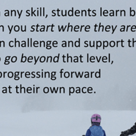 Education and Skiing: An Analogy