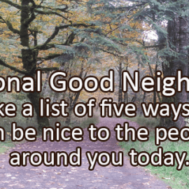 Writing Prompt for September 28: Good Neighbors