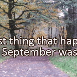 Writing Prompt for September 30: Best Thing