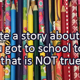 Writing Prompt for October 18: Getting to School