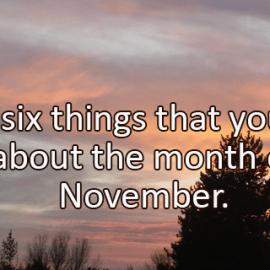 Writing Prompt for November 1: November