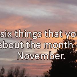 Writing Prompt for Wednesday, November 1: November